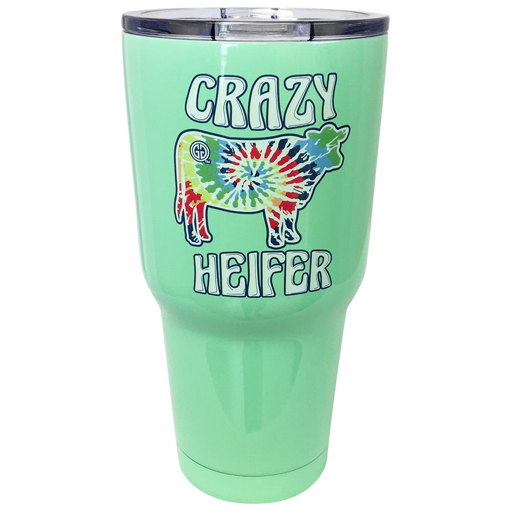 TB2468 Tie Dye Crazy Heifer Stainless Steel Tumbler