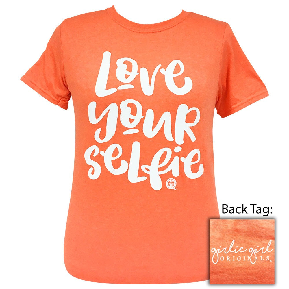 Love Your Selfie Heather Orange-2085 Short Sleeve