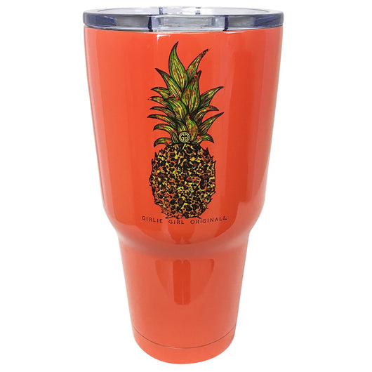 TB2468 Leopard Pineapple Stainless Steel Tumbler