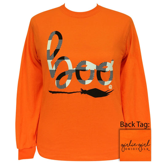 Plaid Boo Safety Orange Long Sleeve