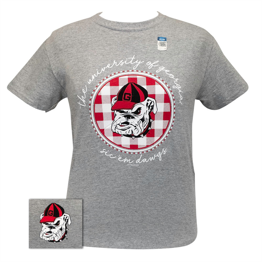 Georgia Buffalo Plaid Sport Grey-060 Short Sleeve