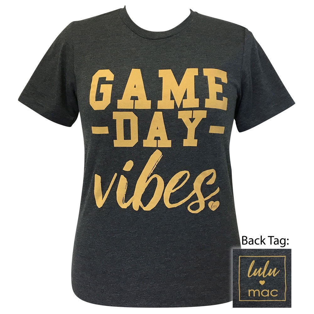 lulu mac-31 Game Day Vibes Dark Grey Heather Short Sleeve