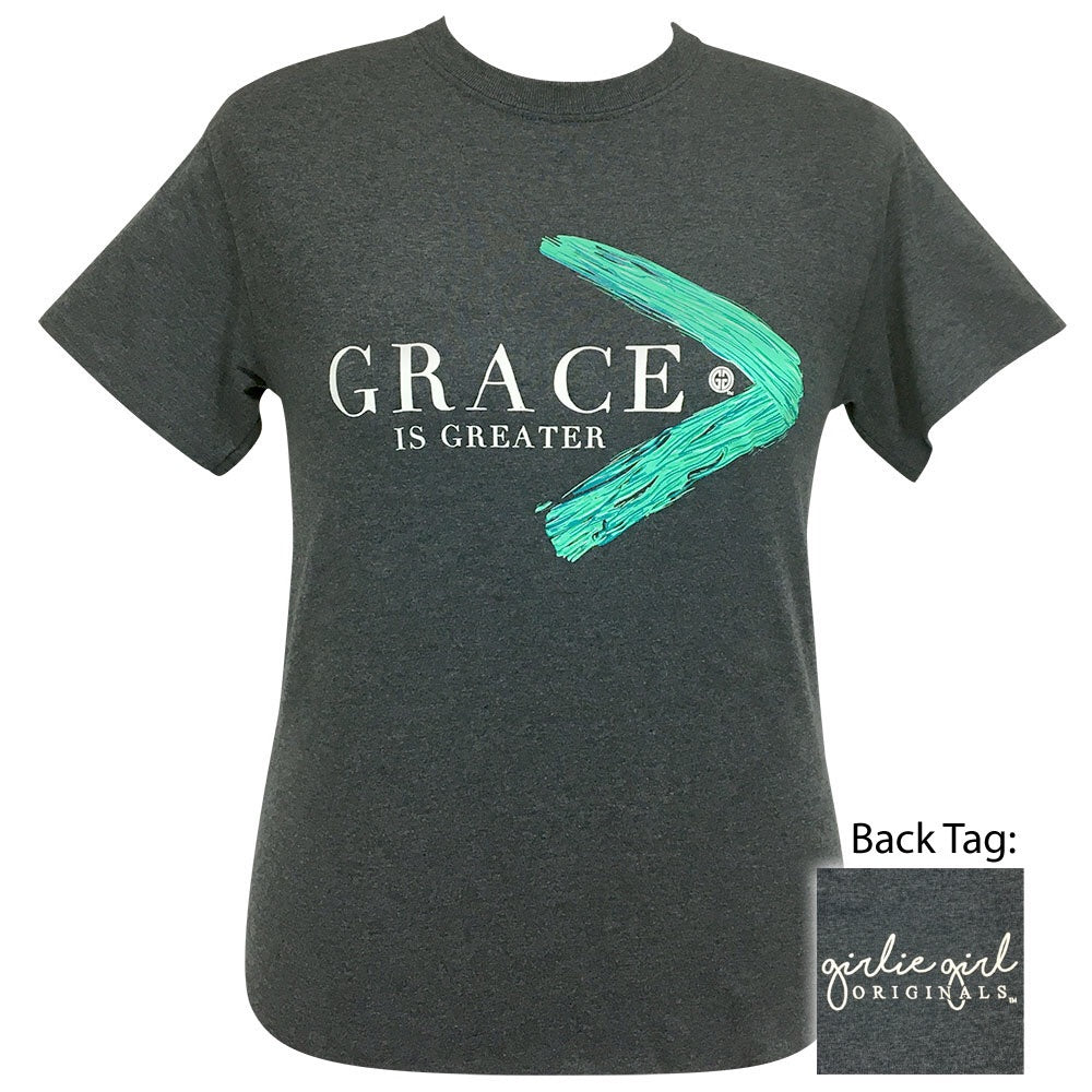 Grace Is Greater Dark Heather 2175 Short Sleeve Tee