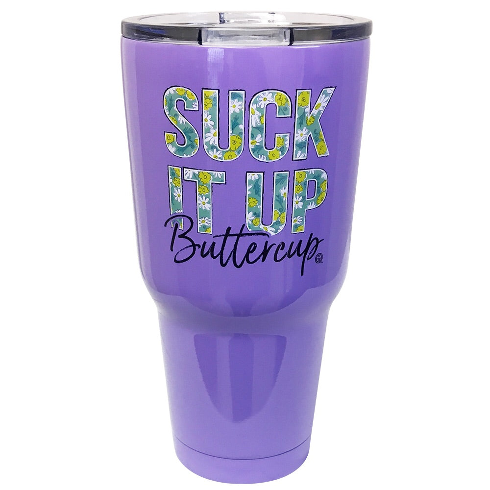 TB2468 Suck It Up Buttercup Stainless Steel Tumbler