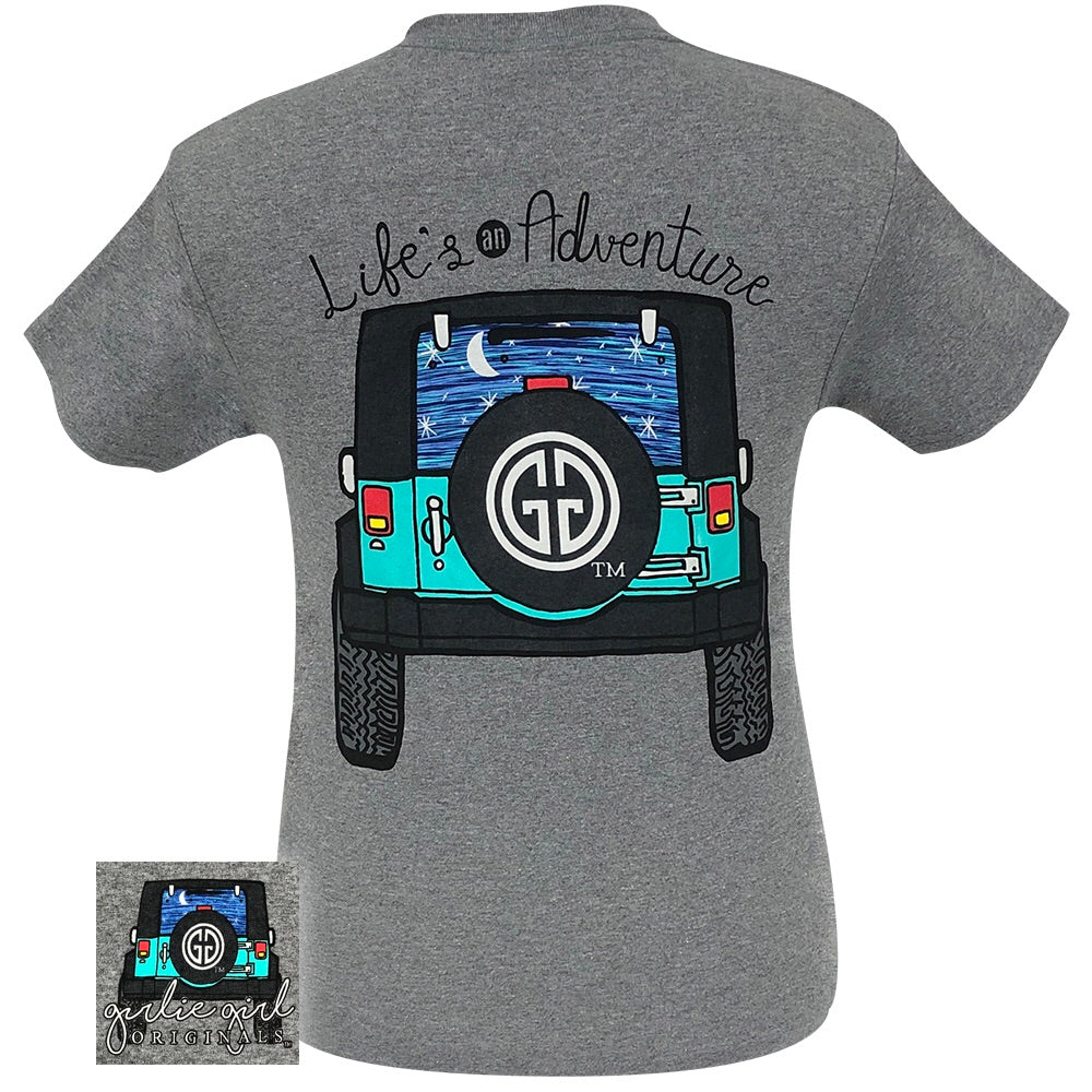 Life's An Adventure Graphite Heather-2095 Short Sleeve