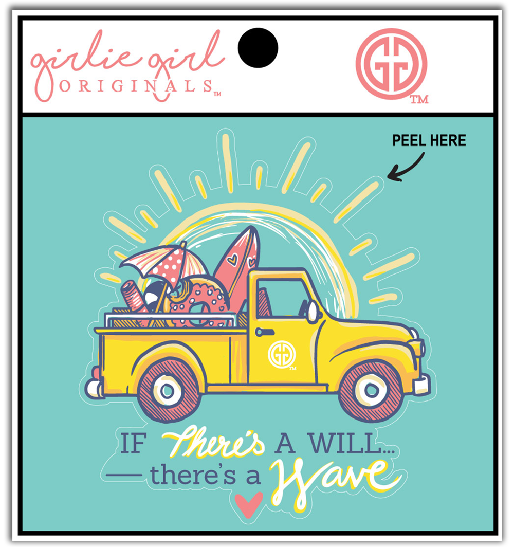 Decal/Sticker-2207 There's A Wave