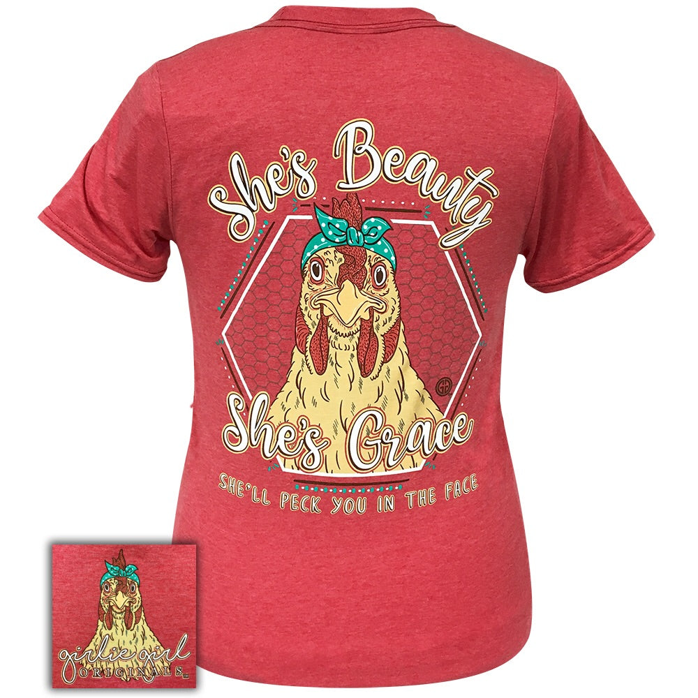 Beauty Grace Hen Heather Red-2112 Short Sleeve