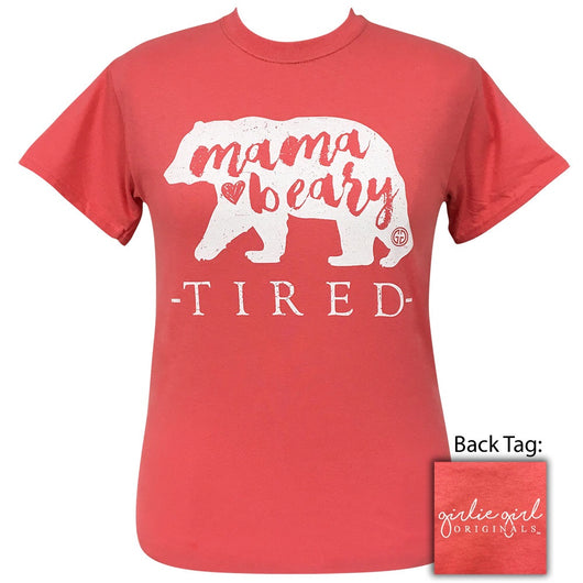 Mama Beary Tired Coral Silk-2114 Short Sleeve