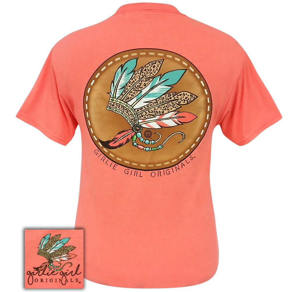 Leopard Headdress Retro Heather Coral-2111 Short Sleeve