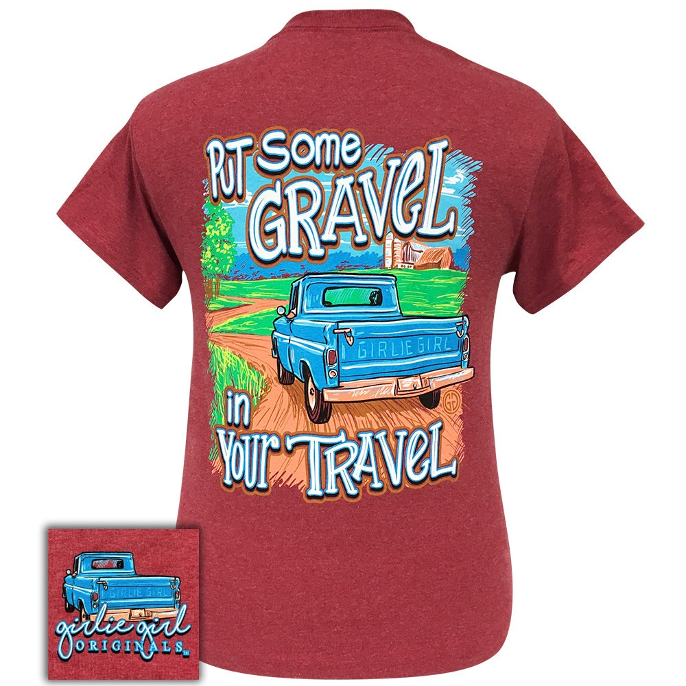 Gravel Travel Heather Cardinal- 2093 Short Sleeve