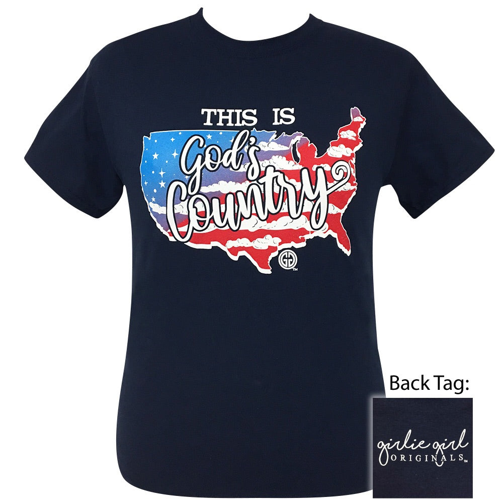 This Is God's Country Navy-2115 Short Sleeve