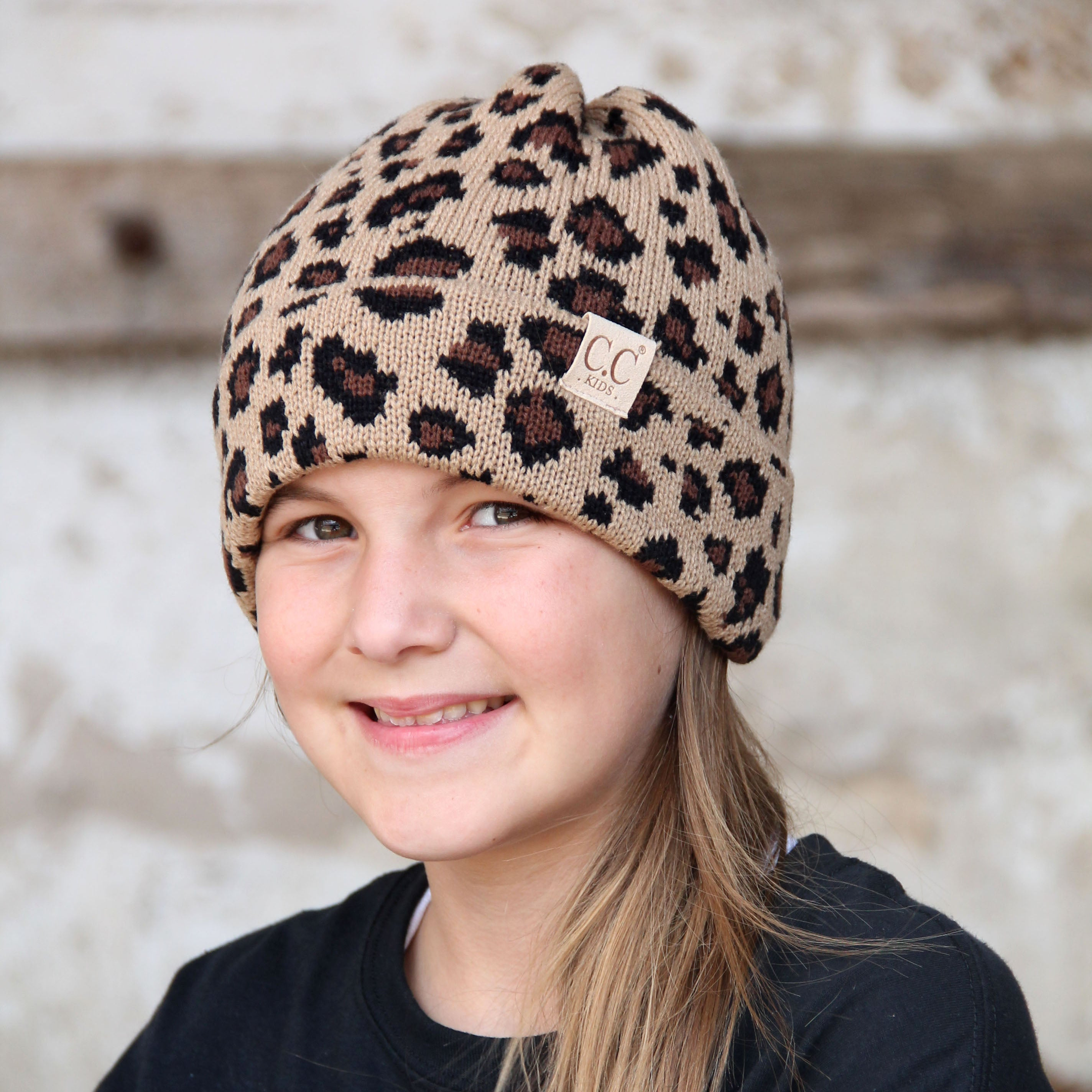 KID-45 Leopard Youth Beanie