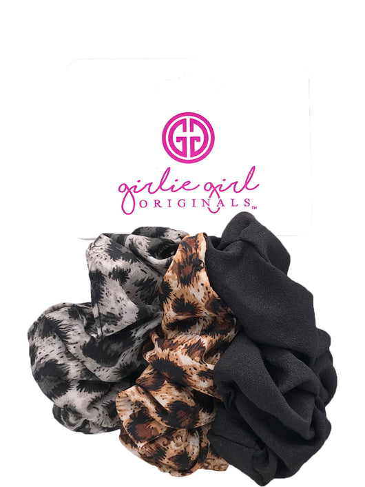 SCR-10-LEOPARD Assorted Scrunchies