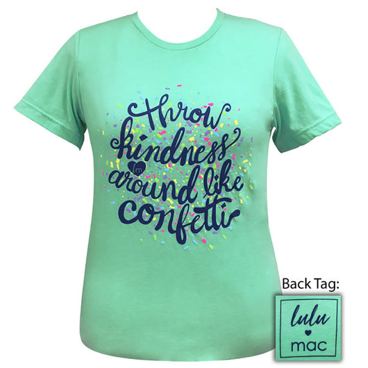 lulu mac-Kindness Confetti  Heather Mint-16 Short Sleeve