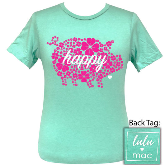 lulu mac-Happy Pig-Heather Mint SS-LM9