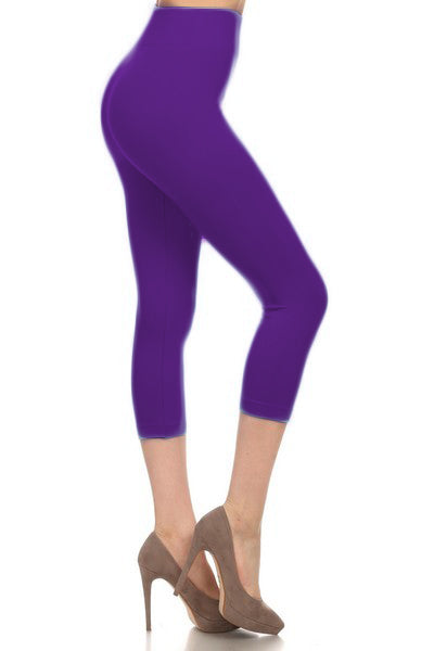 SML518SD-Purple Capri Legging