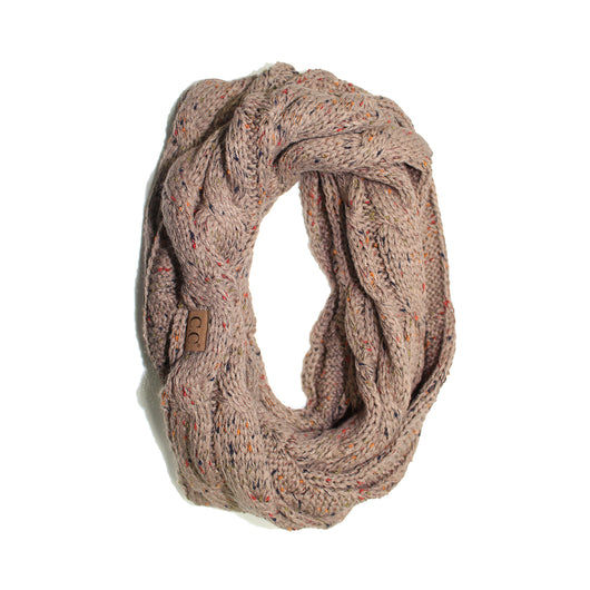 SF-33 Taupe Speckled Infinity Scarf