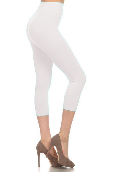 SML518SD-White Capri Legging