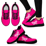 Women's Butterflies Breast Cancer Awareness Sneakers
