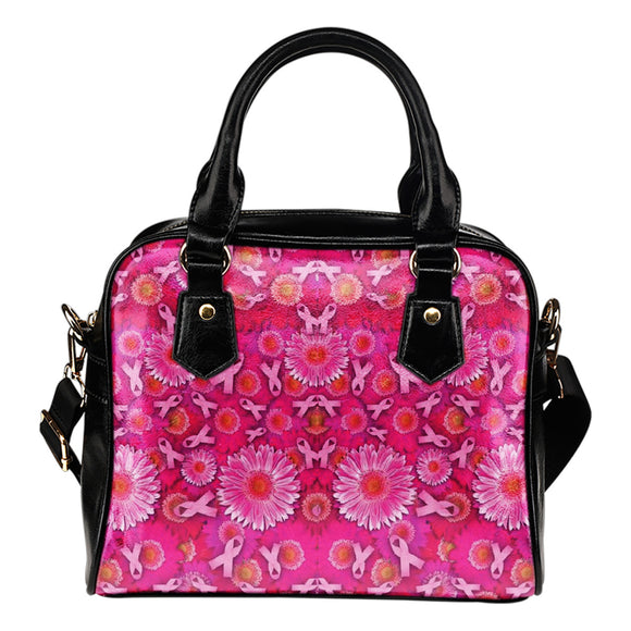 Pink Ribbons and Flowers Shoulder Bag