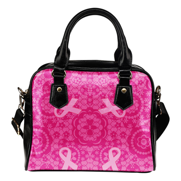 Breast Cancer Awareness Flowers Pink Ribbon Shoulder Bag