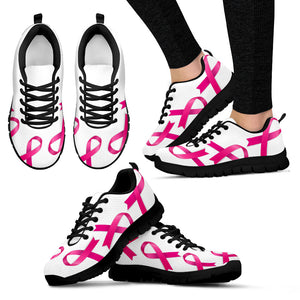 Women's Bold Pink Ribbons Sneakers