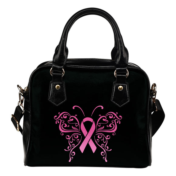 Butterfly Pink Ribbon Shoulder Bag