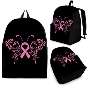 Butterfly Pink Ribbon Backpack