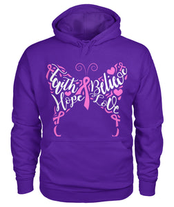 Faith Believe Hope Love Butterfly Hoodies and Sweatshirts