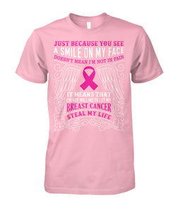 Not Let Breast Cancer Steal My Life Shirts and Long Sleeves
