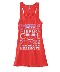 Super Cool Breast Cancer Warrior Tank Tops