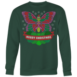 Pink Ribbon Butterfly Ugly Christmas Shirts and Sweaters