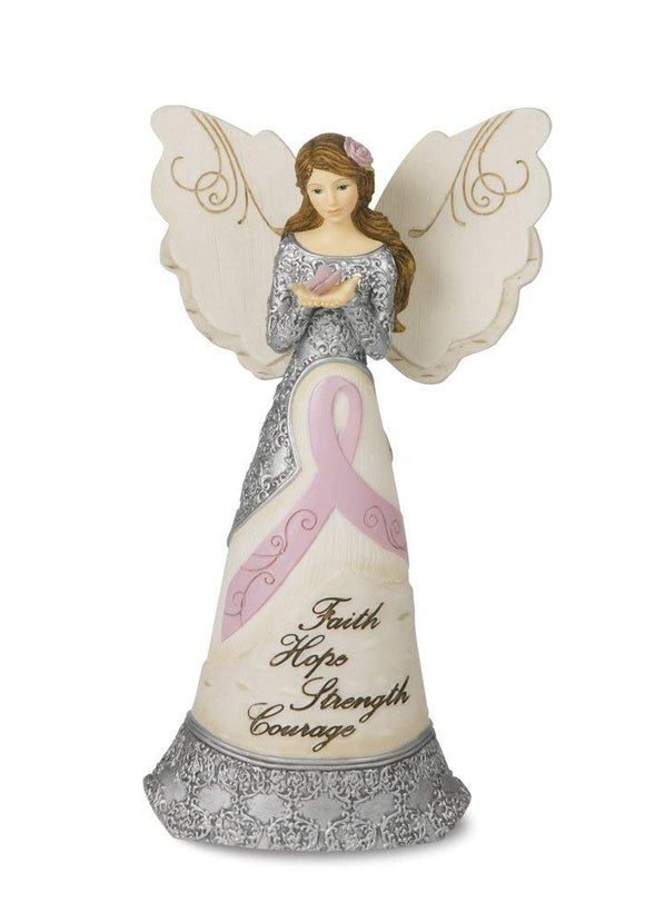 Faith Hope Strength Courage Angel Figurine Display