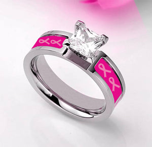 Lovely Pink Ribbon Ring