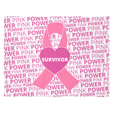 Pink Power - Survivor - Fleece Blanket