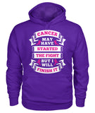 Cancer Started the Fight Hoodies and Sweatshirts