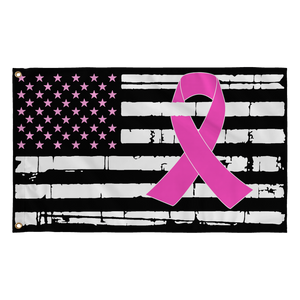 Pink Ribbon American Flag