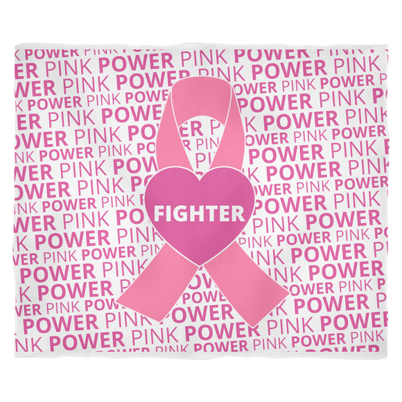 Pink Power - Fighter- Fleece Blanket