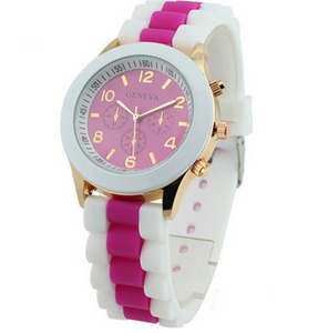 Pink Breast Cancer Awareness Silicone Watch