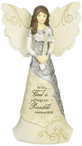 With God All Things Are Possible Angel Figurine