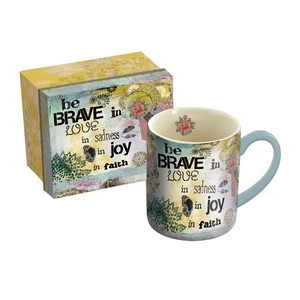 Be Brave Ceramic Coffee Mug with Gift Box