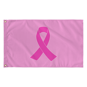 Breast Cancer Awareness Pink Ribbon Flag
