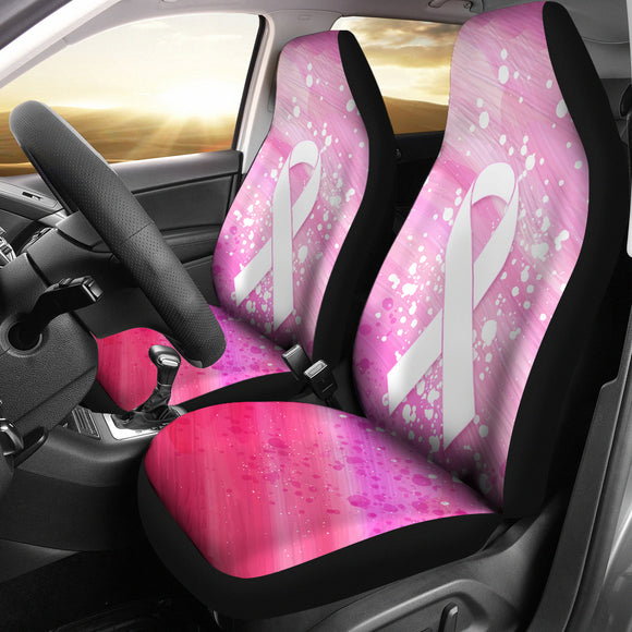 Pink Ribbon Canvas Car Seat Covers