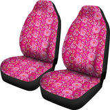 Flowers and Pink Ribbons Car Seat Covers