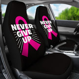 Never Give Up Car Seat Covers