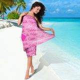 Breast Cancer Awareness Words Sarong
