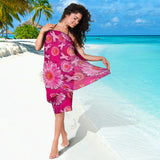Pink Ribbons and Flowers Sarong