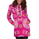 Pink Ribbons and Flowers Hoodie Dress