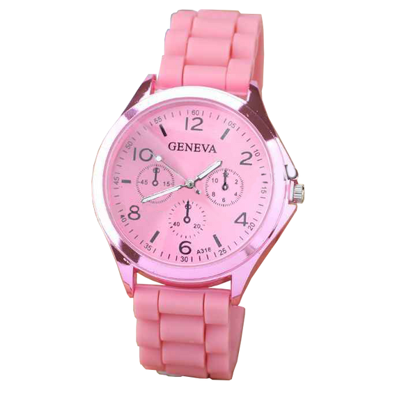 Geneva Breast Cancer Silicone Watch