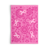 Pink Ribbon Pattern Set of Flat Greeting Cards